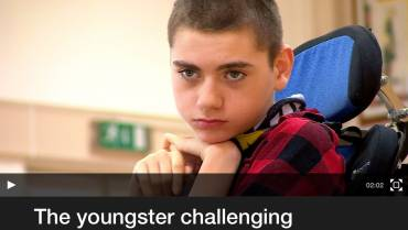 The youngster challenging children's perceptions of disability